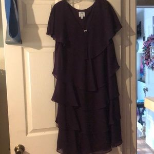 Dark violet dress